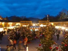 Christmas market at Hellbrunn Palace in Salzburg, Austria - this is one of the most charming