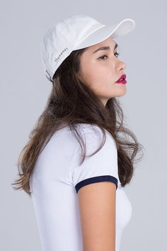 Milk Polo Cap liked on Shememes caps, hats, white color cap, embroidery hats.