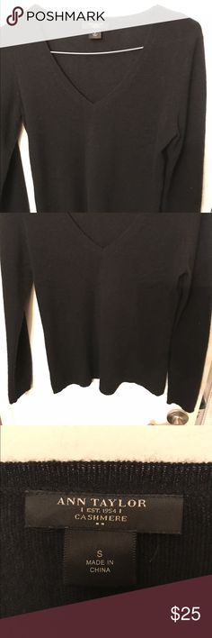 Ann Taylor cashmere sweater in excellent condition Beautiful cashmere sweater excellent condition. Ann Taylor Sweaters V-Necks