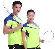 New Sportswear Quick Dry breathable badminton shirt , Women / Men table tennis shirt clothes short sleeve T Shirts(China)
