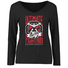 UFC Women's Keeping It Real Slim Fit Long Sleeve T-Shirt - Black - $29.99