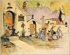 Krazy Kat by George Herriman - a true masterpiece. Whoever thinks comics are not a form of art in itself has never laid eyes upon this amazing comic strip, dealing with innocence and unrequited love.