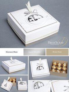 Ferrero Rocher Box Tutorial «Framelits Joyeuses Etiquettes» - Djudiscrap