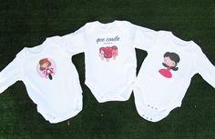 Bodys bebé con ilustraciones personalizadas para una cesta. - www.ilustracionesilustres.com