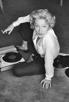 Marlene Dietrich, France, 1956.