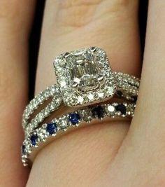Sapphire & diamond wedding set ... Gorgeous