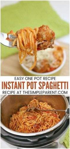 Instant Pot Spaghetti and Meatballs Recipe - This easy Instant Pot Recipe only takes minutes to prepare. It's one of the easiest electric pressure cooker recipes I've tried! The noodles come out great in the sauce! I've added it to my easy recipes for the busiest nights!