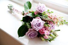wild flower wedding bouquet pink