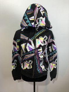 Aritzia Tna Medium Zip Up Sweater Black With Neon Zip Up Sweater, Black Sweaters, Hooded Jacket, Zip Ups, Neon, Athletic, Medium, Jackets, Ebay