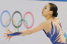 ソチ五輪のフィギュアスケート女子フリーで演技する浅田真央(2014年02月20日) 【時事通信社】