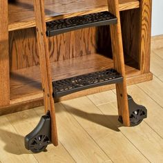 10u0027 rockler vintage rolling library ladder wood kits
