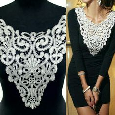 Make that simple little black dress into a beautiful and delicate dress with a lace crochet collar! DIY has never been easier when you have www.craftyso.com by your side.