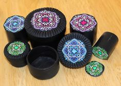 Meg Newberg's tutorial for polymer clay mandala cane boxes