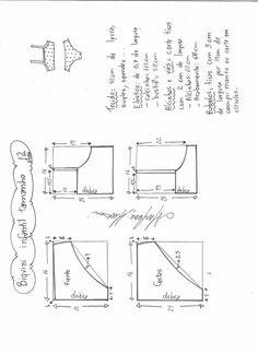 Выкройка раздельного детского купальника на возраст от 1 года до 14 лет (Шитье и крой) | Журнал Вдохновение Рукодельницы