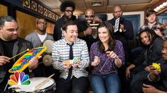 """Pin for Later: Watch All the Times Jimmy Fallon Nailed It With Classroom Instruments Frozen's """"Let It Go"""" With Idina Menzel"""