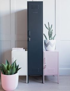 Mustard Made Lockers -The Skinny Tall Locker - Slate Grey at Rose & Grey. Buy online now from Rose & Grey, eclectic home accessories and stylish furniture for vintage and modern living Steel Furniture, Sofa Furniture, Furniture Layout, Vintage Furniture, Contemporary Storage Furniture, Small Lockers, Oak Shelves, Industrial Shelves, Bamboo Shelf