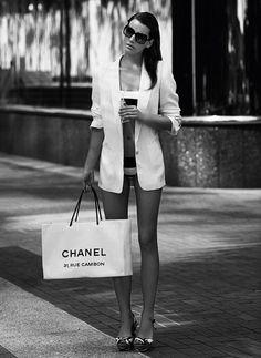 Sometimes I shop at chanel in my bikini too