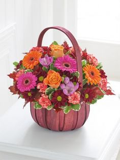 Happy Birthday Autumn Basket With Happy Birthday Balloon - Interflora Dublin, Cork, Order Flowers Online, Happy Birthday Balloons, Orange Roses, Local Florist, Fall Flowers, Season Colors, Flower Delivery