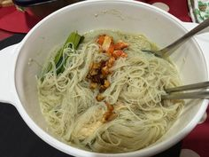 The Right to Be Alive: Chicken BeeHoon Soup with Salmon