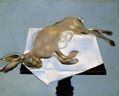 Hare on a Table by John Craxton Oil on board, 51 x cm Collection: Pallant House Gallery Mad Boy, Romanticism Artists, English Artists, National Portrait Gallery, Art Uk, Your Paintings, Hare, Artist At Work, Art Forms