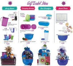 Tupperware Gift Basket Ideas Prices Good Until Dec 12, 2014. Great deals. Visit my site or message me your order direct or call me 843-222-6544 When ordering through me direct you can pay with cc or debit, cash, Paypal. Just message me your email address for a Paypal invoice. I ship worldwide. My web site is http://debratoddjordan.my.tupperware.com/ My blog page https://debratoddjordan.wordpress.com/ Facebook page is…