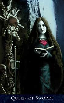 9 The Queen of Swords from The Bohemian Gothic Tarot by Alex Ukolov & Karen Mahony