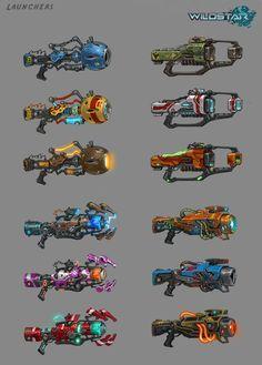 wildstar weapon concept art - Google Search