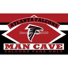 Atlanta Falcons Fans Only Flag MAN CAVE Banner RedFlag World Series Football Team 3ft X 5ft Banners Atlanta Falcons Flag
