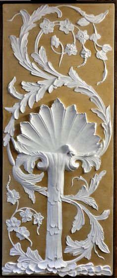 Bas-relief Mamorino - Shell with Frog and Floral Motifs Luxury Decor, Wall Sculptures, Floral Motif, Art Decor, Artisan, Shell, Painting, Craftsman, Paintings