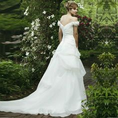Pretty Sleeveless with Dropped waist wedding dress,Style No.0bg01368,US$355.00   Read More:    http://www.weddingscasual.com/index.php?r=pretty-sleeveless-with-dropped-waist-wedding-dress-1.html