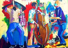 Loving this musical painting by #artist John Obafemi Jones