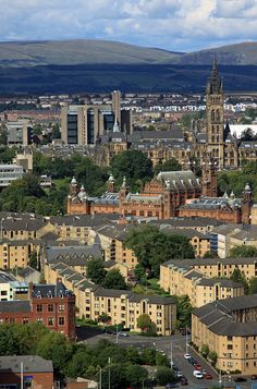 Glasgow University & Kelvingrove Art Gallery and Museum,  Scotland by David May, via Flickr