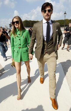 Olivia Palermo and Johannes Huebl head to the Valentino spring/summer '15 show at Paris Fashion Week - France - 30 September 2014