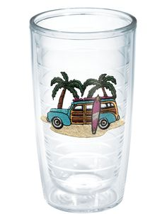 Sun & Surf | Green Woodie | Green Woodie | Tumblers, Mugs, Cups | Tervis - These cups rock!  You can put hot or cold beverages in them and they have straw and travel lids. They are also double walled so they keep beverages warm or cold for a long time and they don't sweat.  Fabulous!