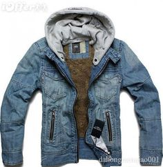casual mens denim jeans jacket fashion 2012