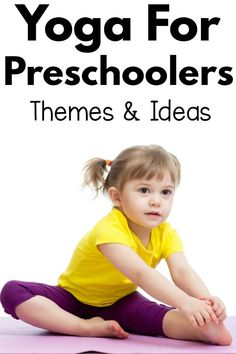Yoga for preschoolers - creative ideas and themes. Fun ideas for yoga for anyone working with preschool aged kids. Holiday, seasonal, and themed yoga! Yoga Games, Exercise Activities, Movement Activities, Toddler Yoga, Baby Yoga, Preschool Yoga, Preschool Themes, Kindergarten Activities, Yoga For Kids