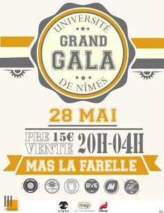 Création de l'affiche du Grand Gala de L'Université de Nîmes 2014 #flyer #affiche #a3 #night #gala #nîmes #grand #vintage #asso #afraga #fraga #poster