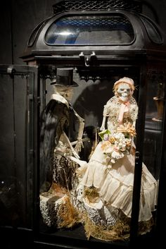 Bride and Groom from artist Wendy Addison for Roger's Gardens Halloween display- Night Gallery 2013