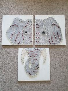 3 panel de elefantes clavos y cuerdas por LachanceCustomCreate
