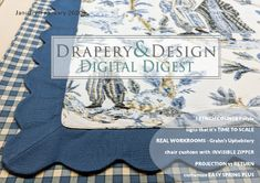 Chair Upholstery, Chair Cushions, Michele Williams, Drapery Designs, Box Cushion, How To Make Curtains, Pattern Matching, Bolster Pillow, Sewing Studio