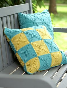 Yarnspirations.com - Bernat Patchwork Pillows - Patterns | Yarnspirations