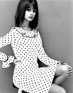 Jean Shrimpton wearing Mary Quant, photographed John French, 1964.