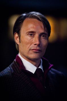 Mads Mikkelsen as Hannibal. Somebody please help Will Graham. Cuz he's falling in love with a cannibal