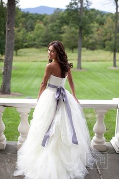This dress looks incredible, except for with a blush sash.