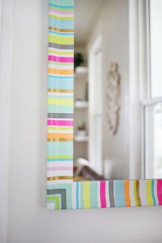 espejo washi tape - ¡Súmate a la moda del washi tape y diviértete decorando tu casa!