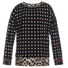 Blusa in jersey pois