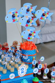 http://michellecastilho.com/pedro-2-anos-decoracao-fundo-do-mar/ #fundodomar #mar