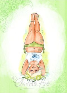 Yoga is for every size. (Art print by illustrator Charlotte Thomson-Morley) | Namasté / Yoga & Meditation