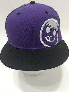 Neff Flatbill Baseball Cap Hat Boarder SK8TER Purple Black Snapback OSFM   eBay