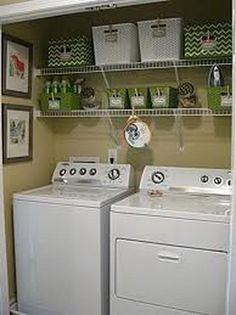Just because your laundry space is small, doesn't mean it can't be beautiful. I'm inspired by this closet makeover, especially all the beautiful storage ideas!(even if you dont have a small laundry room this is nice) Laundry Closet Makeover, Laundry Room Organization, Organization Hacks, Laundry Rooms, Laundry Organizer, Laundry Storage, Laundry Area, Laundry Shelves, Organizing Ideas